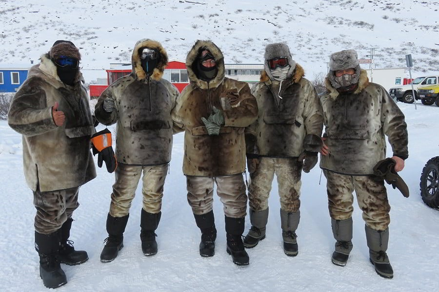 Hunters in Greenland