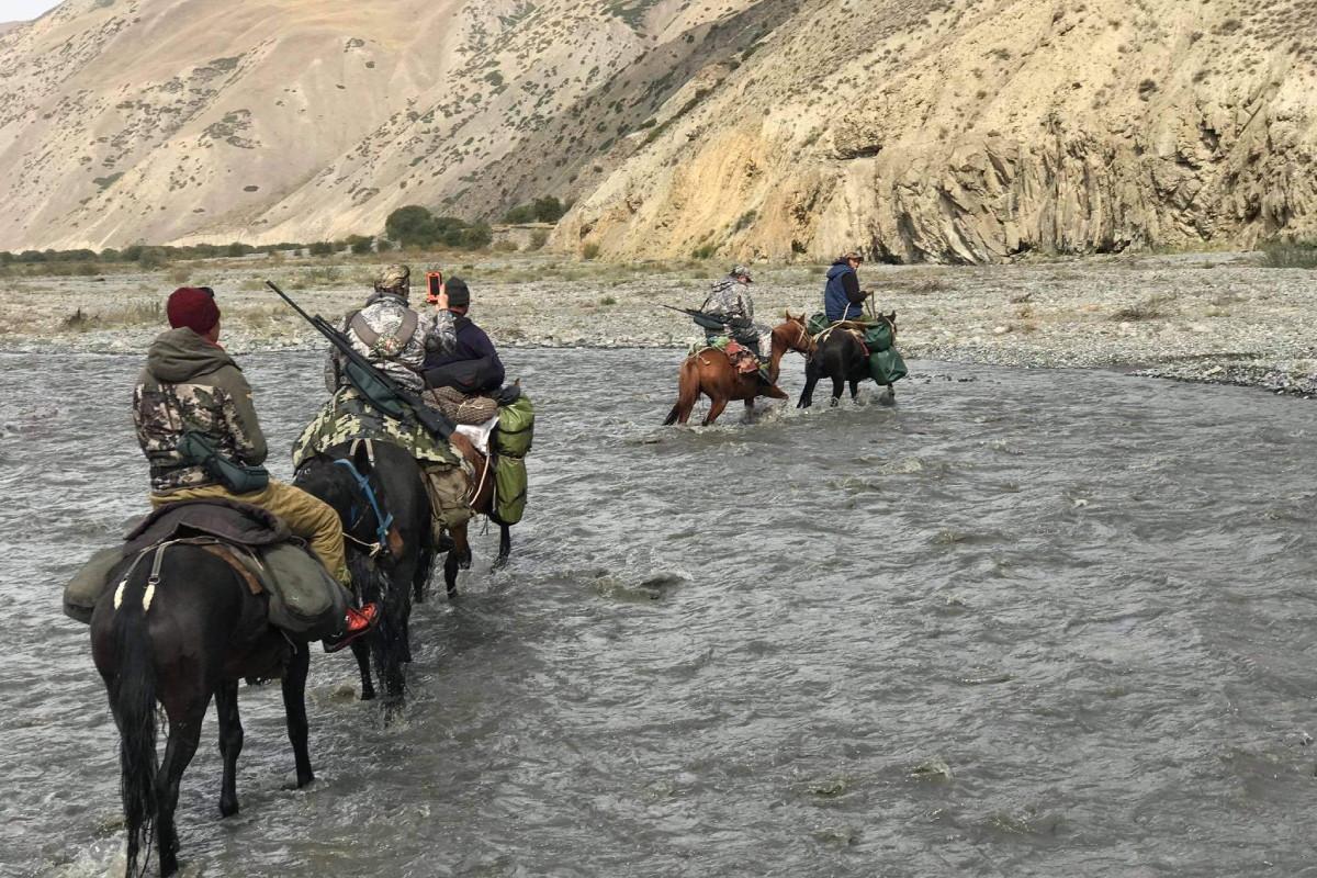 Hunt in Kyrgyzstan - Hunters on horses