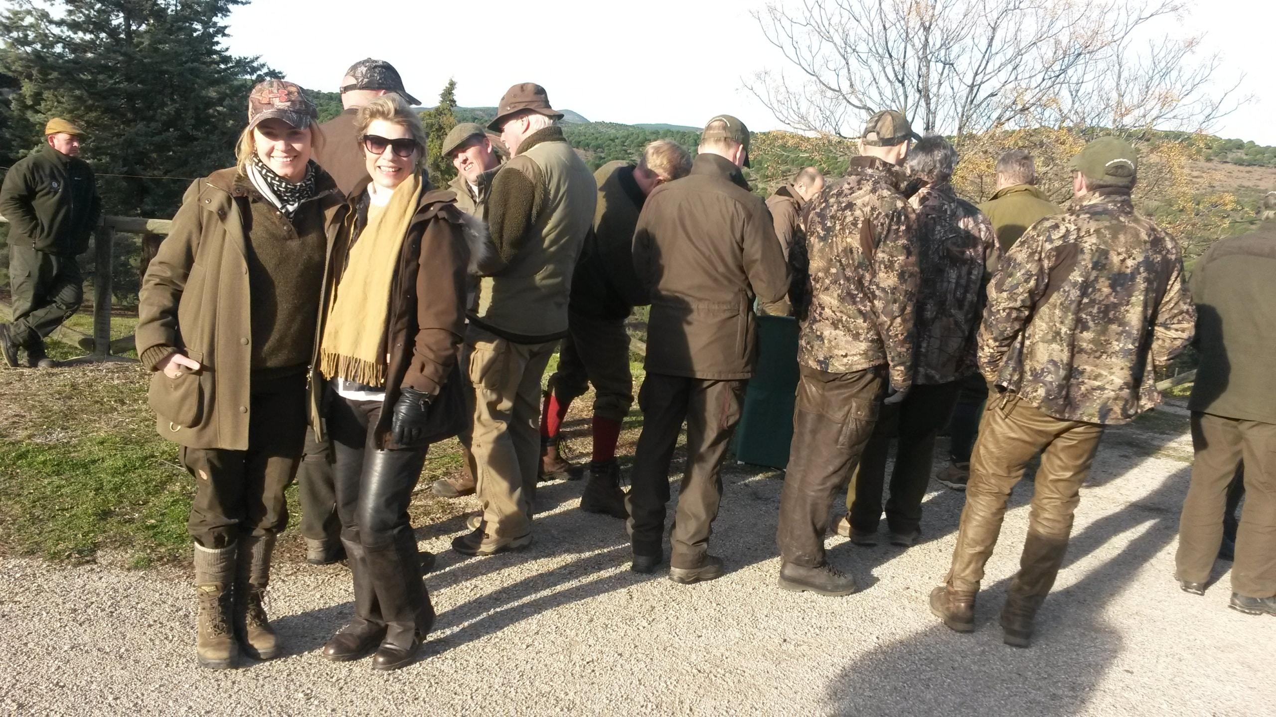 Group of hunter enjoying their Spanish Monteria