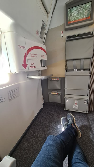 Try to reserve your seat at the emergency exit on the airplane for your next international hunting trip
