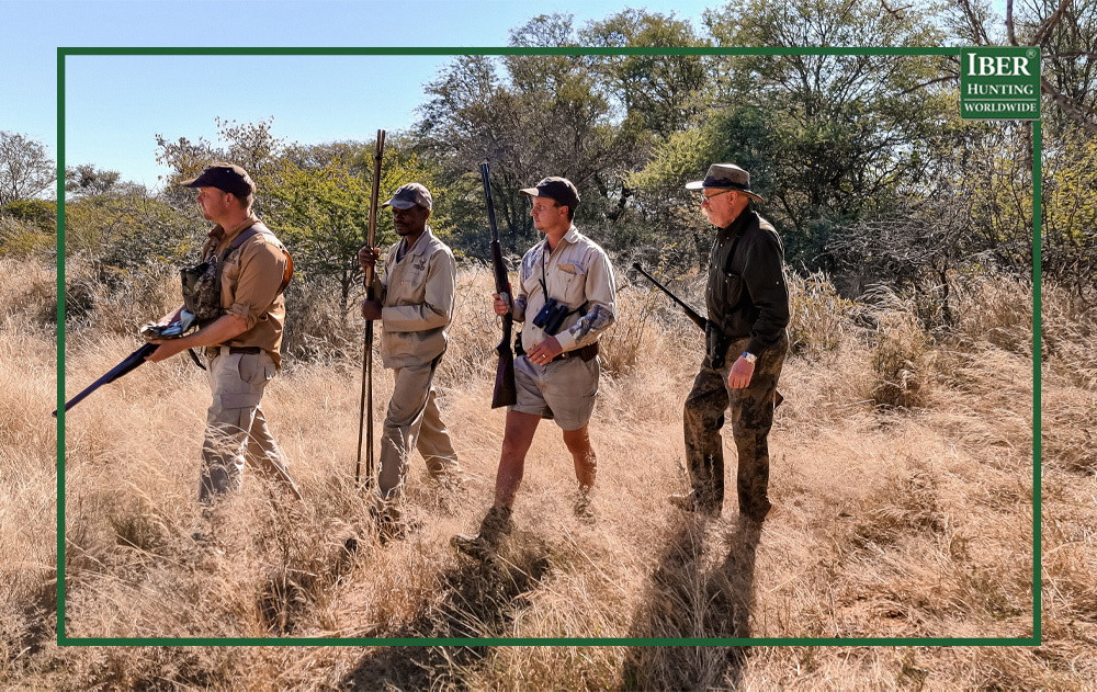 Hunter in africa looking for African game animals
