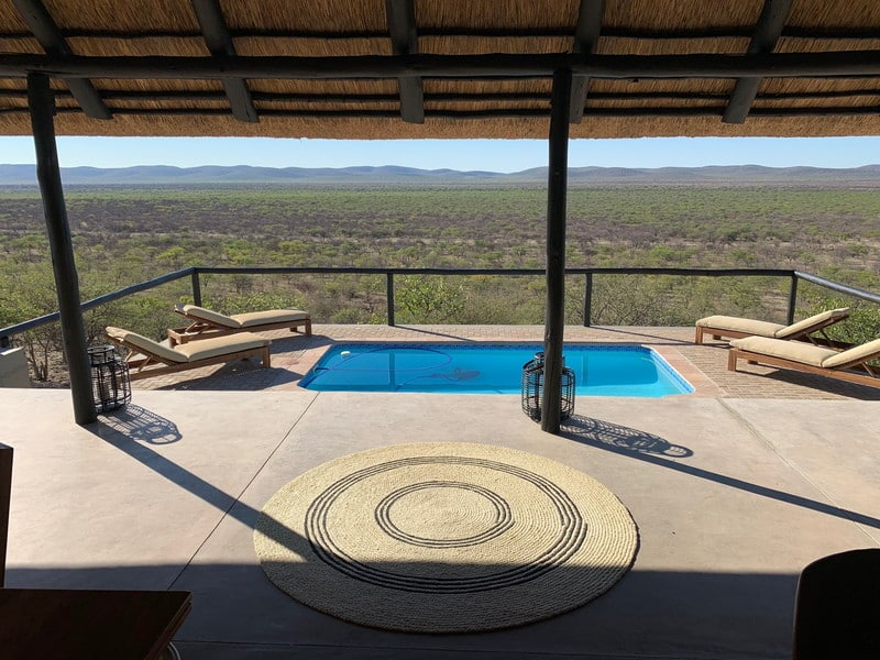 Pool from Africa hunting safari accommodation