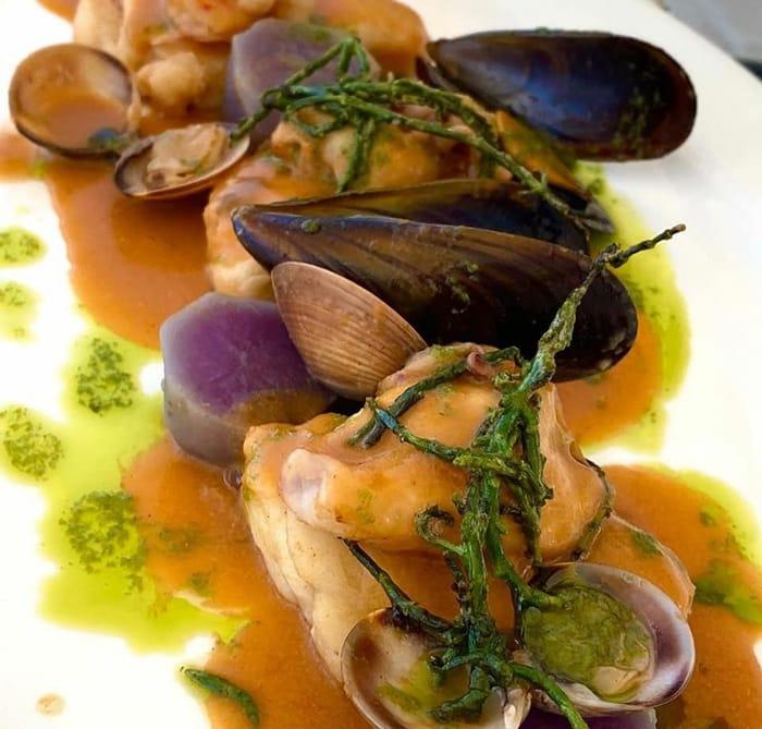 Spanish gastronomy in the restaurant for the hunter for the balearean boc
