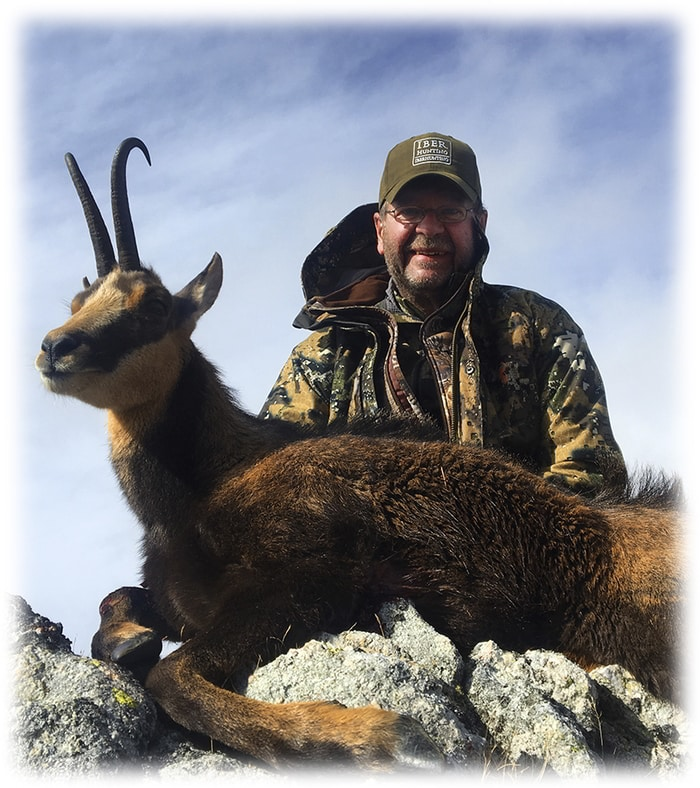 Hunter with the Pyrenean Chamois trophy
