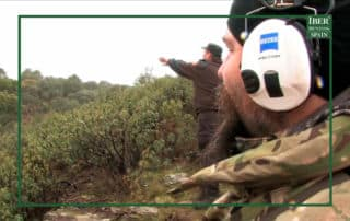 Hunter in a driven hunt or Spanish monteria